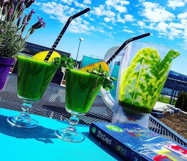 Zielony koktajl, powietrze i piękna pogoda, nic dodać nic ująć
