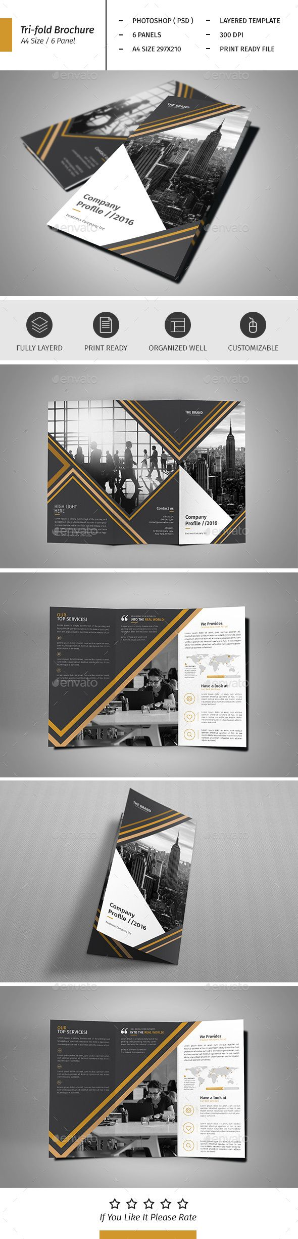 A4 Corporate Business Flyer Template Vol 01 - Corporate Brochures