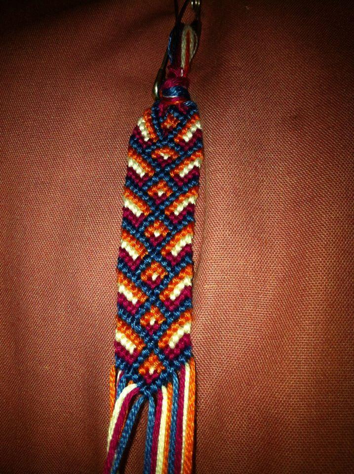 Added by jennbail Friendship bracelet pattern 4596