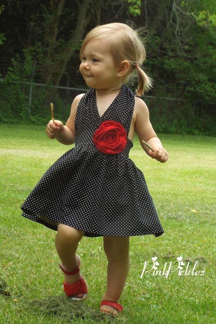 Black and white polka dot dress, Rockabilly dresses, rockabilly clothing, girls rockabilly dress, retro dress, 50s rockabilly dress, toddler by PinkPicklez on Etsy https://www.etsy.com/listing/194702578/black-and-white-polka-dot-dress