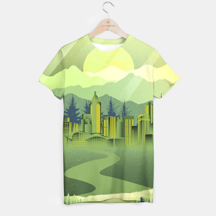 Skyscrapers T-shirt, Live Heroes