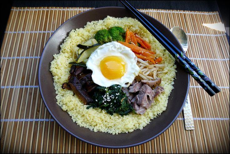 Bibimbap du Maghreb (Fusion entre le Bibimbap de Corée du Sud & le Couscous du Maghreb)
