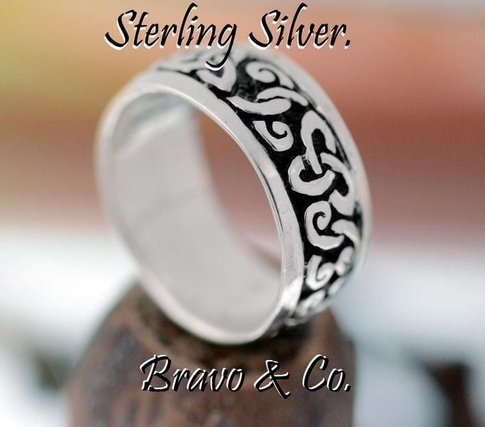 SIZE 11 Sterling Silver Wedding Engagement Promise Thumb Celtic Men Ring R-201
