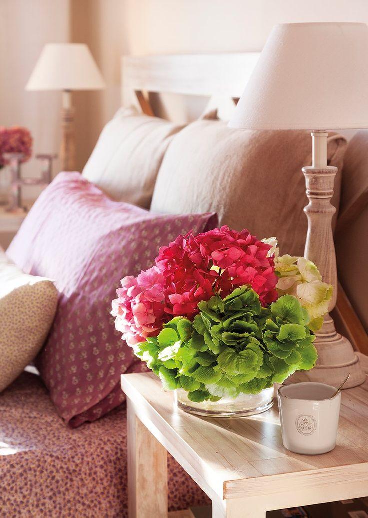 En tonos rosados  Ropa de cama de Filocolore.