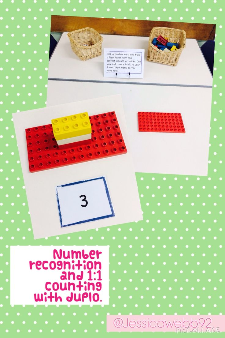 1:1 counting and understanding of more and less by building numbered towers using duple. EYFS
