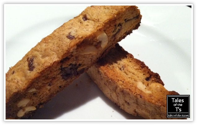 No it's not bread it's Peanut Butter & Chocolate Chip Biscotti