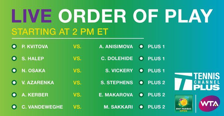 WTA Indian Wells on Tennis Channel Plus: P. Kvitova vs. A. Anisimova | Bible Of Sport