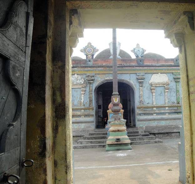 "Thiruvelliyangudi - Divya Desam: ""Sthala Puranam    This Divya Desham is existing from past four yugas. In Satya Yuga, it was known as Brahmaputram. In Treta Yuga, it was known as Parasharam. In Dvapara Yuga, it was known as Saindranagaram. And in this Kali Yuga, it is known as Bhargavapuram.  This Divya Desham is associated with Lord Vamana's pastime""! Ref: http://anudinam.org/2012/04/29/thiruvelliyangudi-divya-desam/"