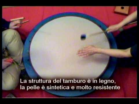 Arte Sonora Terredaria. SUN DRUM tamburo per didattica musicale bambini - YouTube