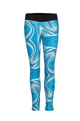 Small, Wave Blue, Cheeki. Ly Athletics Womens Manhatten Leggings, Womens, Manhat