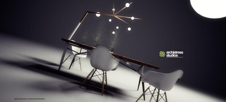 archistress studios design team - table design corian & wood