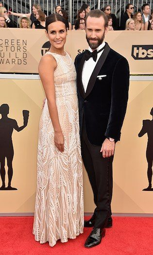 Maria Dolores Dieguez and Joseph Fiennes  Photo: © Getty Images 2018