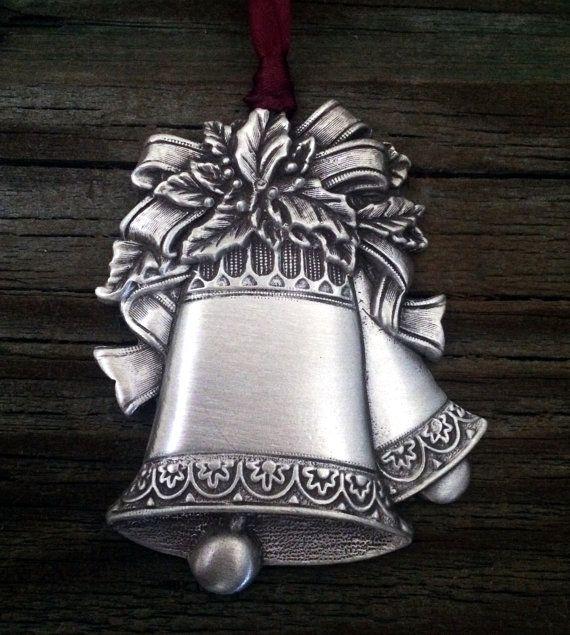 Christmas Silver Bells Christmas Ornament by treasurecast on Etsy