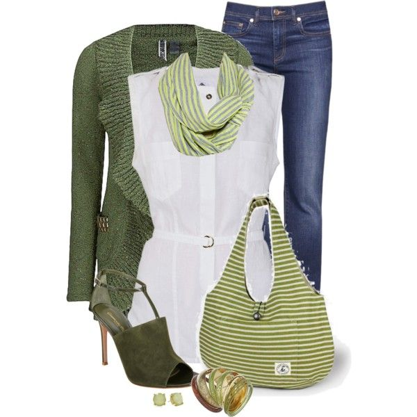 A fashion look from April 2014 featuring Lola blouses, BKE cardigans and Tory Burch jeans. Browse and shop related looks.