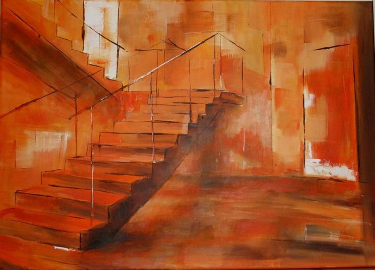 Stairs      -  canvas 50x70cm  Antal Fülöp