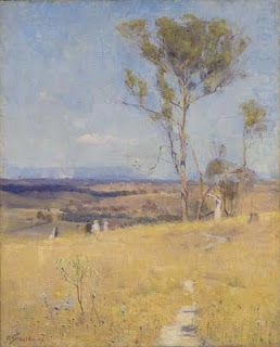 Near Heidleberg - Arthur Streeton painting