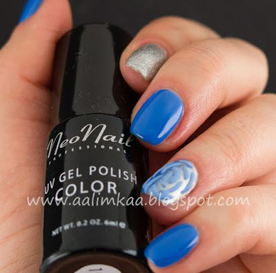 Aalimkaa: Recenzja lakierów NeoNail 3646-1 Fancy Blue i 4626-1 Star Dust + proszek akrylowy