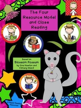 """Reading comprehension activities based on the picture book, """"Blossom Possum - The Sky is Falling Down-Under"""" by Gina Newton.  Links close reading with the Four Resources model."""