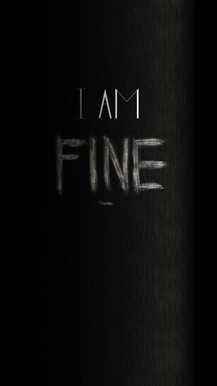 I Am Fine Thanks Black Hd Wallpaper Dark Black Wallpaper Iphone 6 Wallpaper Backgrounds