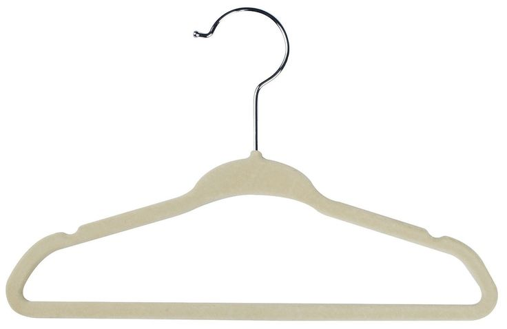 Baby Hangers (Pack of 25) Kids Clothes Hanger - Non Slip - Space Saver (Ivory Color) by Utopia Home
