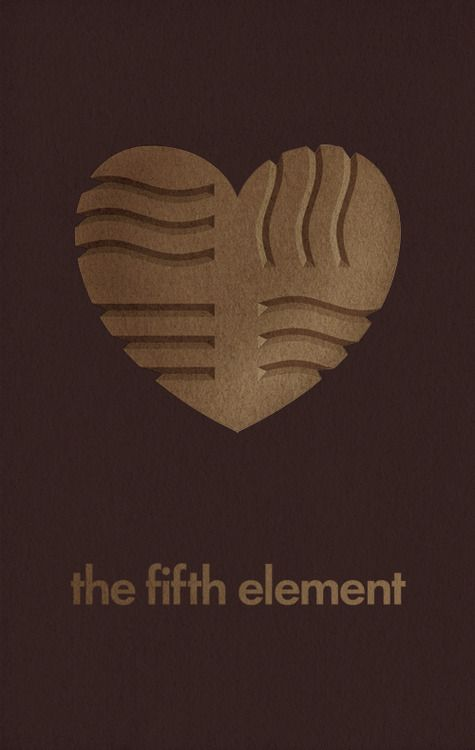Minimal Movie Posters: The Fifth Element by Maria Kaner