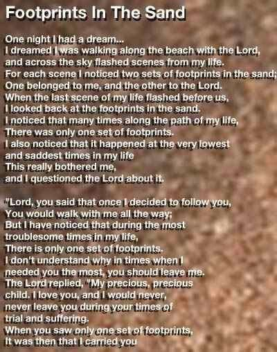 Footprints | My life with Jesus | Pinterest