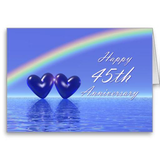 happy 45th anniversary wishes