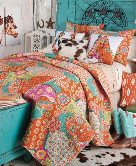 Sundance Quilted Cowgirl Bedding Collection