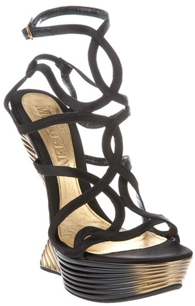 Alexander McQueen Multi Strap Sandal...If these were 21/2 inches I would wear them!!!