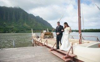 Modern Weddings Hawaii   Kualoa Ranch: Secret Island, Hale Moli'i   Milestone Events Hawaii Wedding