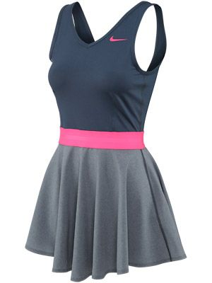 This dress is super cute!  Kind of like an ice-skating dress!  Nike Women's Autumn Heathered V-Neck Dress