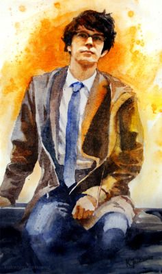 The Quartermaster from Skyfall. Watercolours on paper.