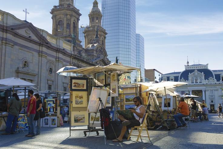 Plaza de Armas, center of Santiago #santiago #architecture #culture #capital #art #chile