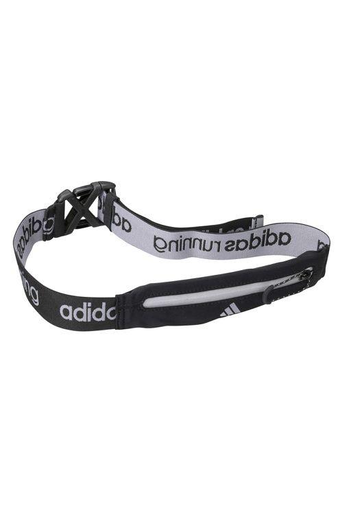 Löparbälte Run belt från adidas. Bältet är i elastisk resår med en liten dragkedjeficka som kan rymma det viktigaste. Bältet har justerbar längd och snabbspänne i plast. Bredd ca 4 cm. Maxlängd ca 80 cm (outdraget). <br><br>