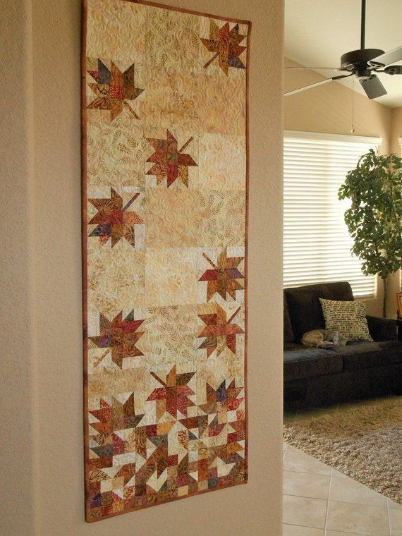 Fall Wall Decor Autumn Leaves Quilted Wall Hanging Fall Home
