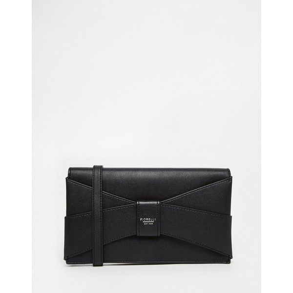 Fiorelli Small Clutch Bag (68 CAD) ❤ liked on Polyvore featuring bags, handbags, clutches, black, black clutches, fiorelli handbags, fiorelli purses, black purse and black handbags