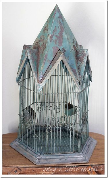rusty birdcage | going a little coastal