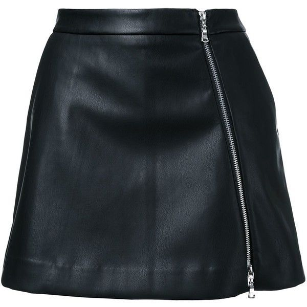 Guild Prime faux-leather mini skirt ($200) ❤ liked on Polyvore featuring skirts, mini skirts, black, vegan leather skirt, faux leather skirt, short skirts, faux-leather skirts and imitation leather skirt