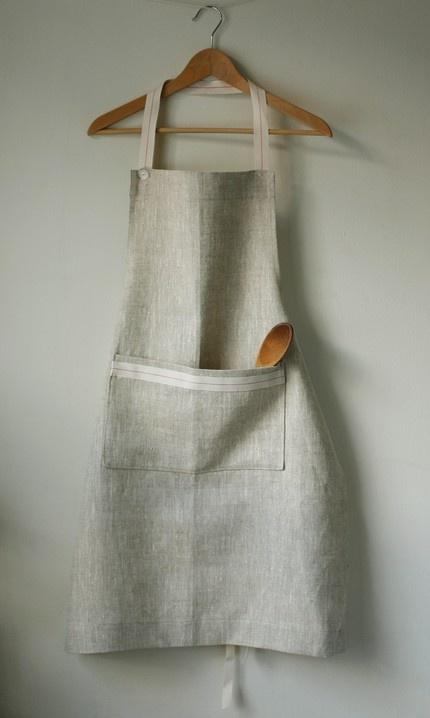 more apron inspiration - linen apron