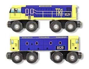 Melissa&Doug, set de locomotive et diesel, train en bois. 3+ans. 10.99$ Disponible en boutique ou sur notre catalogue en ligne. Livraison rapide au Québec.  Achetez-le info@laboiteasurprisesdenicolas.ca
