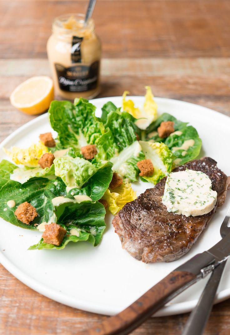 Culy Homemade: entrecôte met dragonboter en groene salade - Culy.nl