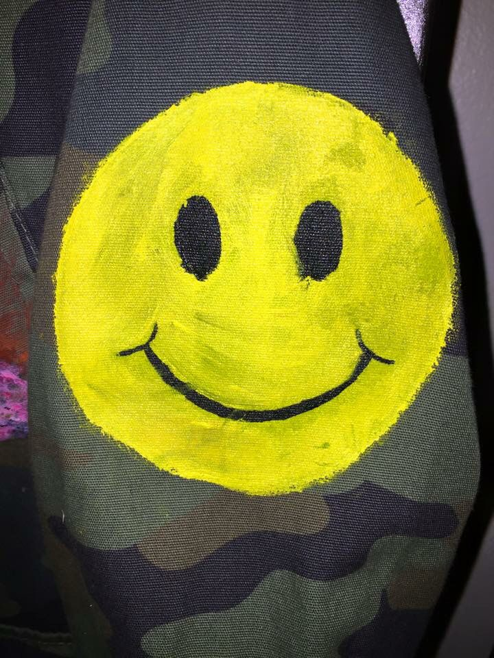 What's cooler than a happy face on camo?? Lol