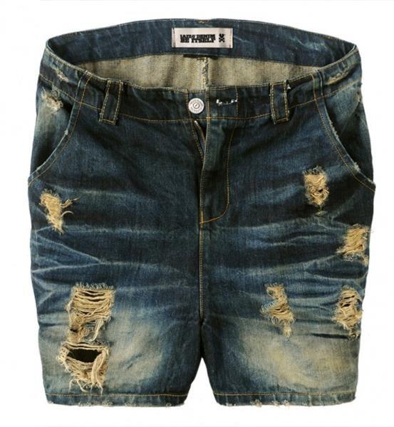Купить мужские джинсовые рваные шорты