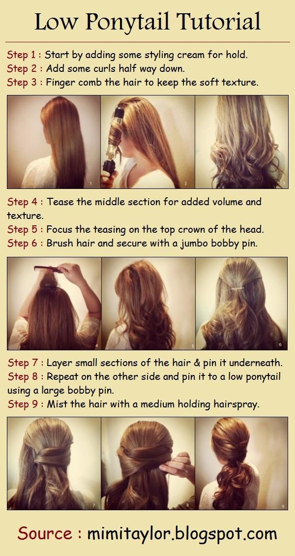 DIY Hair  : Low Ponytail Tutorial