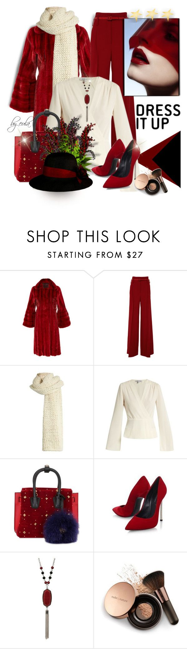 """""""Dress it Up"""" by eula-eldridge-tolliver ❤ liked on Polyvore featuring Natasha Zinko, J. Mendel, I Love Mr. Mittens, Elizabeth and James, MCM, Casadei, Nude by Nature, WorkWear, MyStyle and January"""