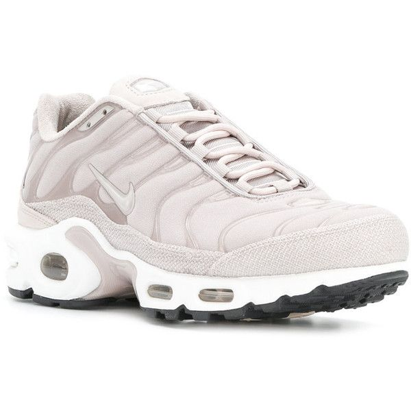 ac27ba5241 Nike Air Max Plus Premium TN sneakers ($280) ❤ liked on Polyvore featuring  shoes, sneakers, rose sneakers, nike trainers, gray sneakers, white shoes  and ...