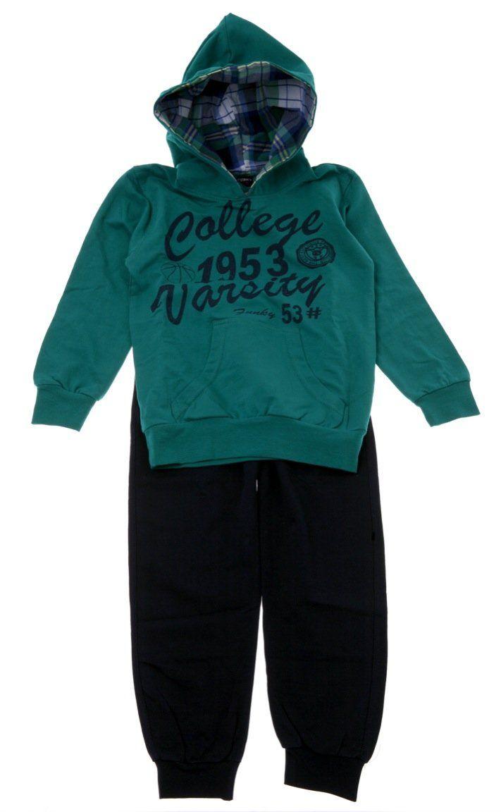 Παιδικά ρούχα AZshop.gr - Funky παιδικό εποχιακό σετ φόρμα μπλούζα-παντελόνι «College 1953» €19,90