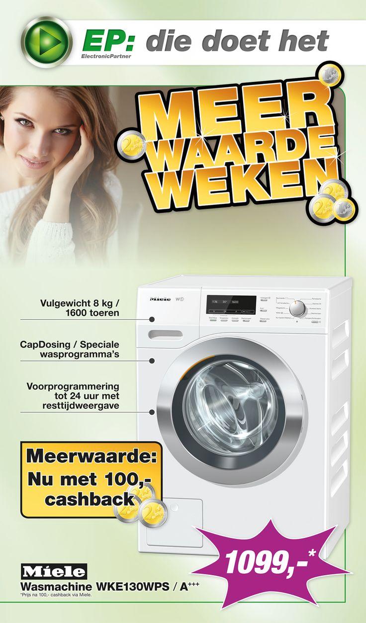 Week 39 van onze spectaculaire E-Poster is online! Met in de actie van deze week: Miele Wasmachine WKE130WPS! (2/2)