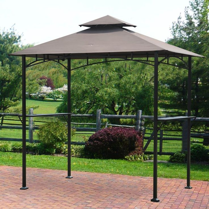 Gazebos On Sale And Canopies Covers Backyard Vented 8' x 5' Two Shelves NEW #Sunjoy