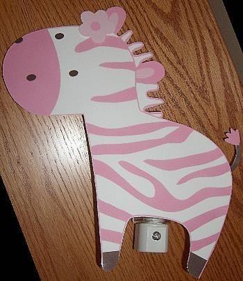 Adorable Jungle Jill Pink Zebra Nursery Night by DebbysCrafts, $7.99
